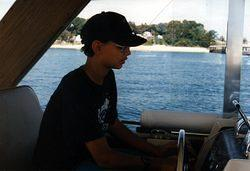 Me driving the boat! =) (not our boat)